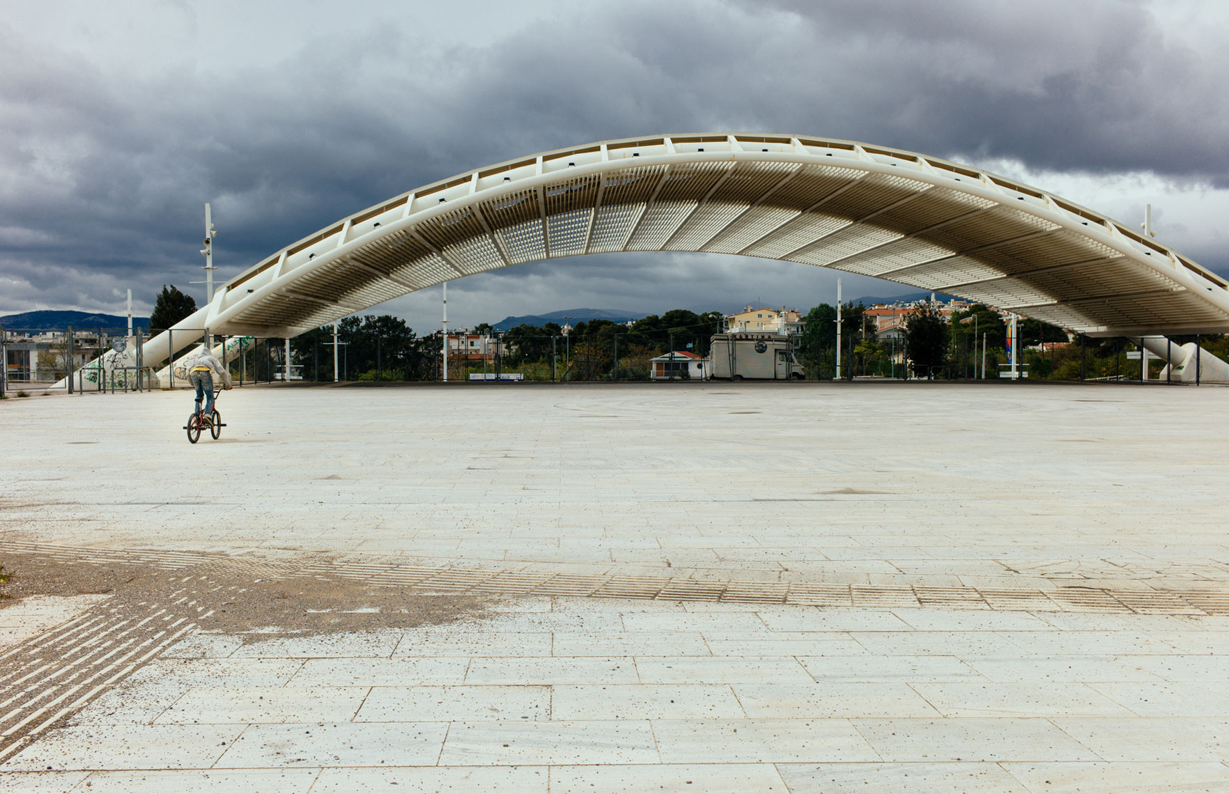 jon pack, photographer | the olympic city | athens, greece | calatrava | oaka | teen on bicycle