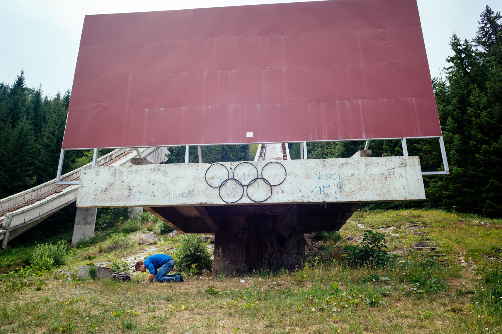 jon pack, photographer | the olympic city | sarajevo | ski jumps