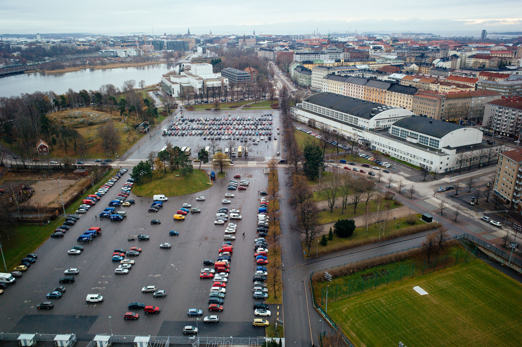 jon pack, photographer | the olympic city | helsinki, finland | parking lot | stadium