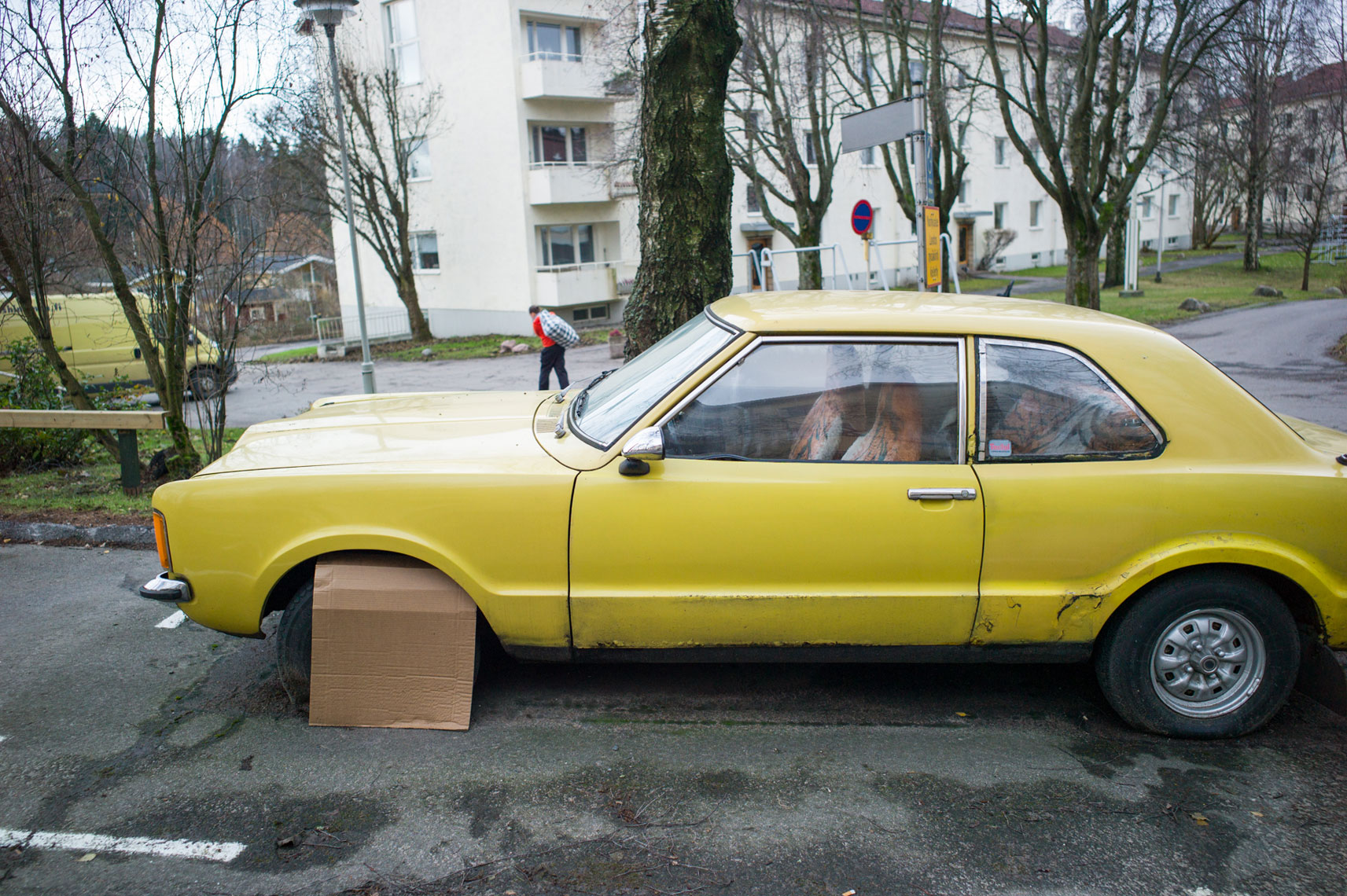jon pack, photographer | the olympic city | helsinki, finland | yellow car | village